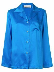 Mansur Gavriel oversized silk shirt - Blue
