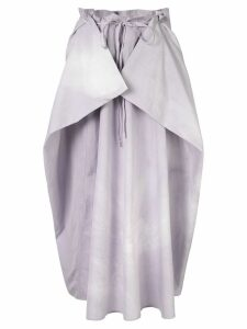 Lemaire draped panel skirt - Purple