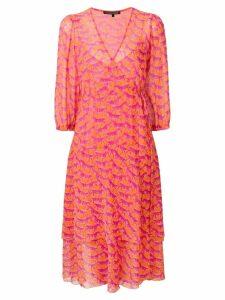 Luisa Cerano zebra pattern ruffle dress - Pink