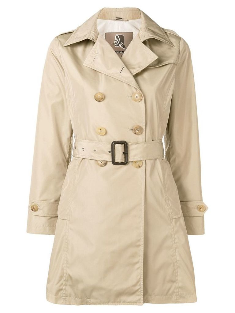Sealup mid-length trench coat - Neutrals