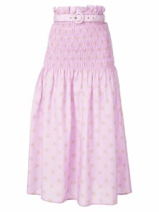 Nicholas smocked skirt - Purple