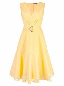Josie Natori lace hem midi dress - Yellow