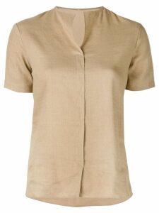 Peter Cohen round neck shirt - Brown