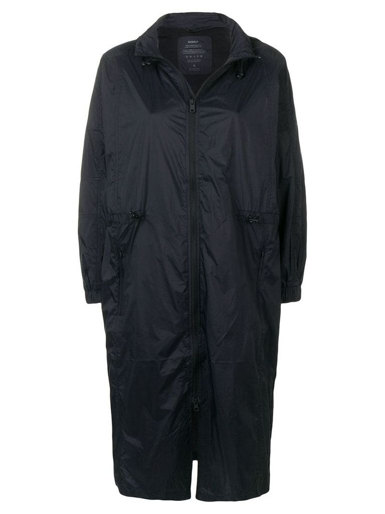 Ecoalf hooded raincot - Black