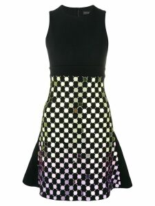 David Koma circle embellished top dress - Black