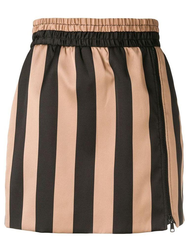 Nº21 striped skirt - Black