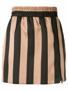 Nº21 striped skirt - Black