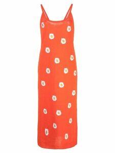 Mansur Gavriel floral embroidered dress - Orange