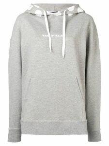HOUSE OF HOLLAND logo polka-dot hoodie - Grey