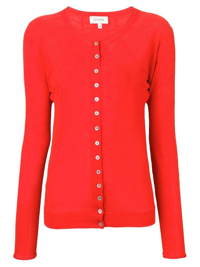 Lemaire buttoned cardigan - Red