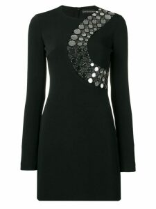 David Koma circles chest embellishment dress - Black