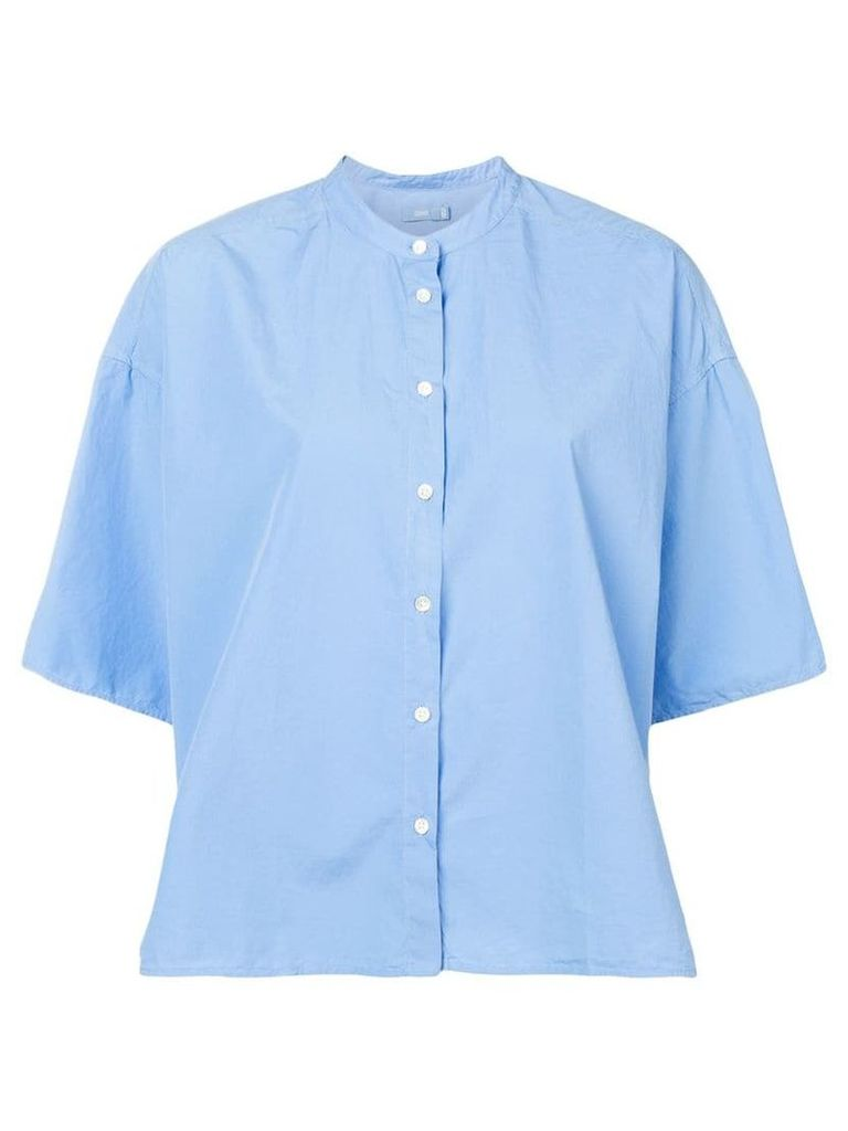 Closed oversized button-up shirt - Blue