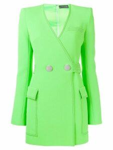 David Koma belted tailored dress - Green