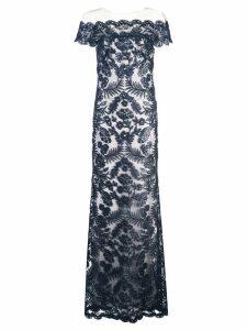Tadashi Shoji lace structures gown - Black