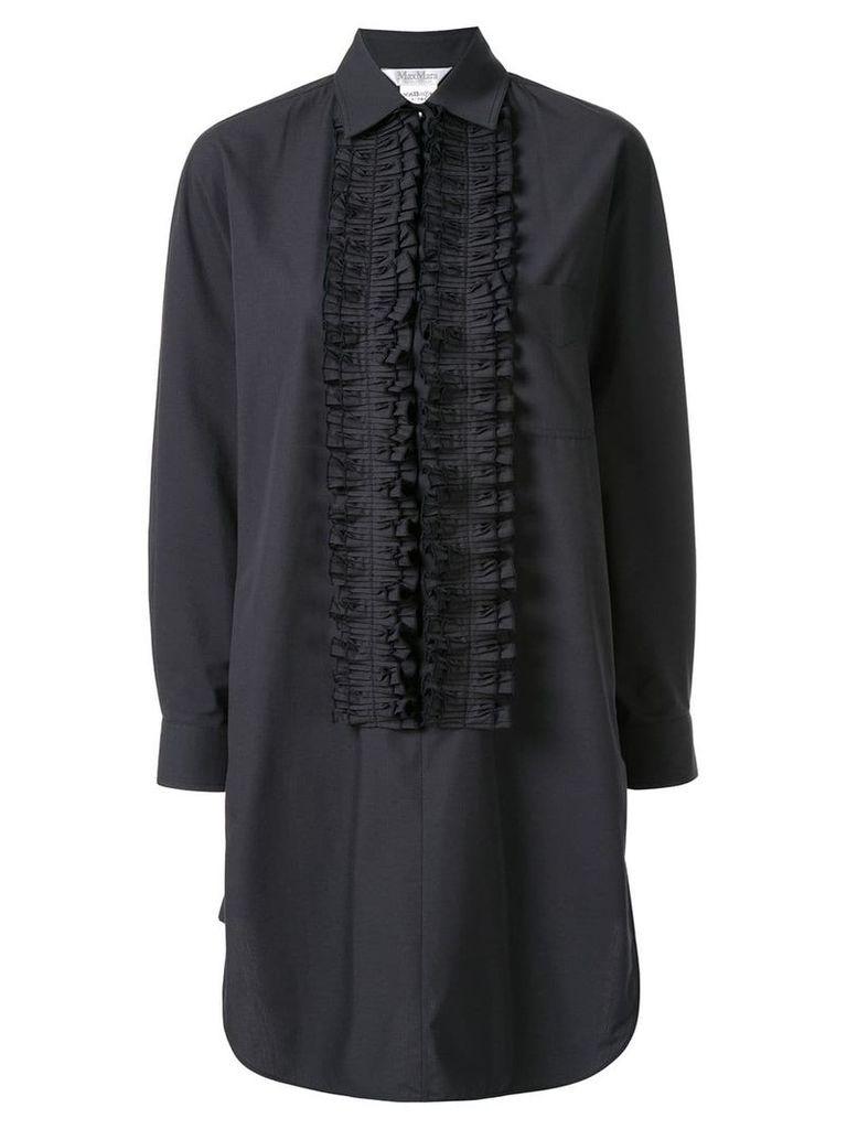 Max Mara ruffle trim tunic dress - Black