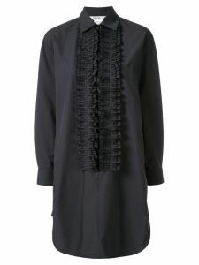 Max Mara ruffle trim tunic dress - Black