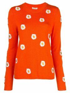 Mansur Gavriel floral embroidered sweater - Orange