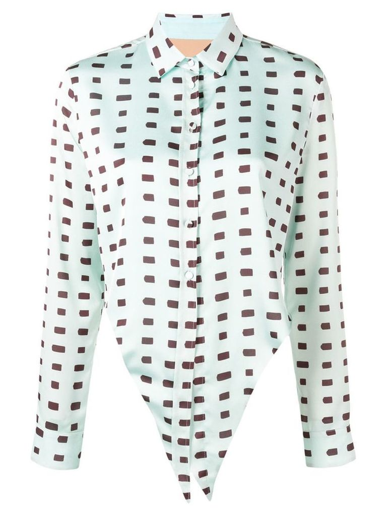 Ssheena rectangle print shirt - Green