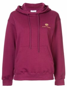 Chiara Ferragni gold logo hoodie - Purple