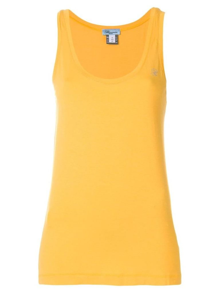 Blumarine classic tank top - Yellow