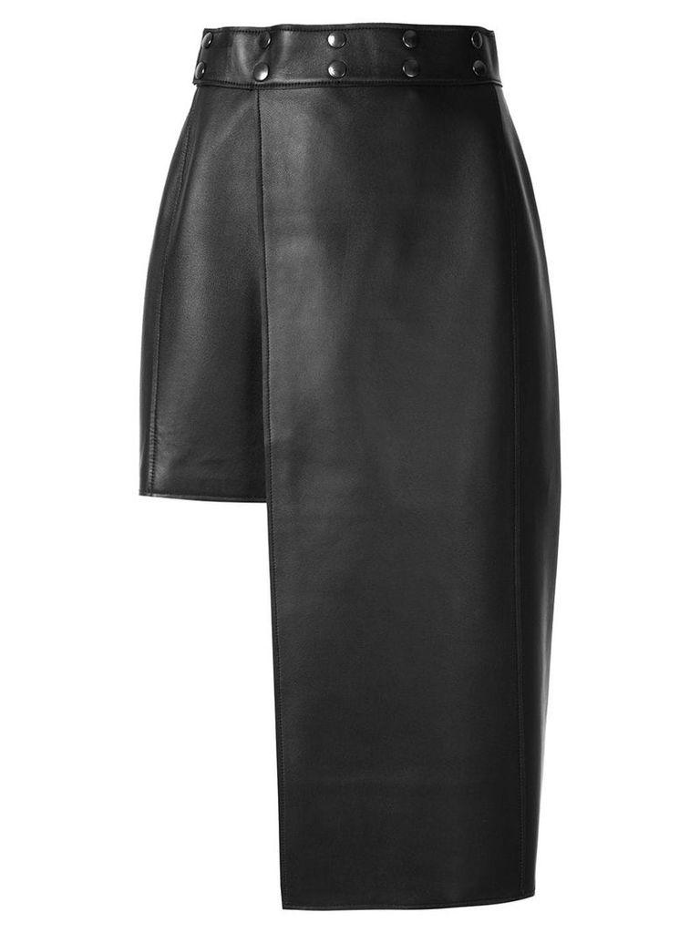 Boyarovskaya asymmetric pencil skirt - Black