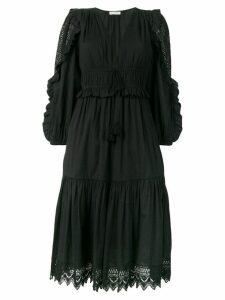 Ulla Johnson ruffle-trimmed midi dress - Black