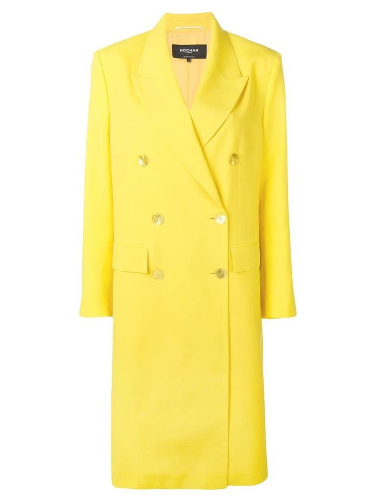 Rochas double breasted coat - Yellow