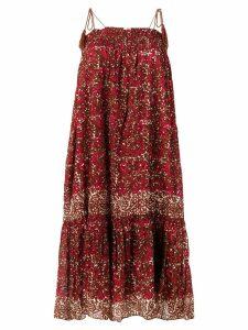 Ulla Johnson abstract print midi dress - Brown