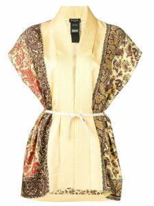 Etro paisley embroidered waistcoat - Yellow