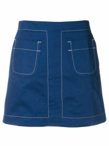 Maison Kitsuné fitted mini skirt - Blue