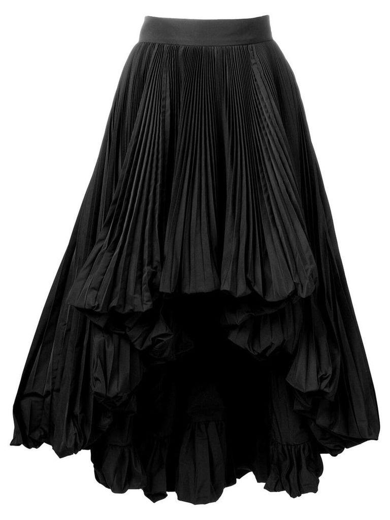 Alexandre Vauthier full pleated skirt - Black
