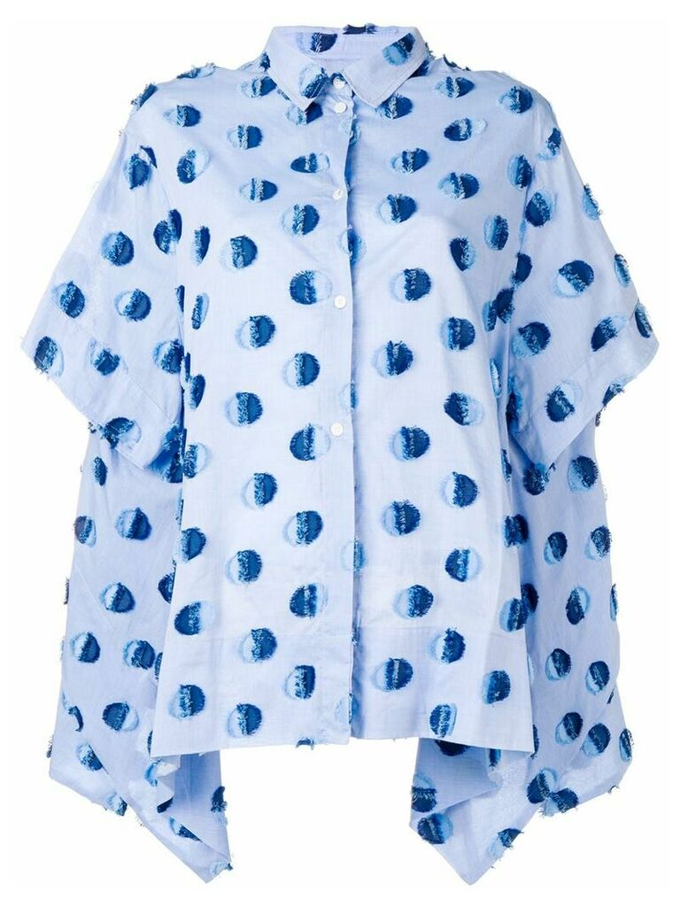 Henrik Vibskov Wind In oversized shirt - Blue