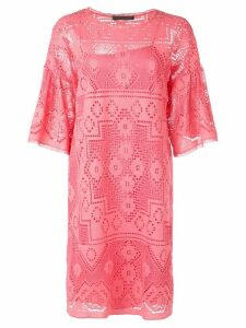 Alberta Ferretti eyelet detail dress - Pink