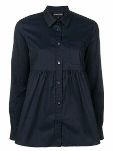 Emporio Armani babydoll-shaped shirt - Blue