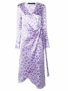 Federica Tosi wrap front midi dress - Purple