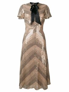 Temperley London Platinum midi dress - Neutrals