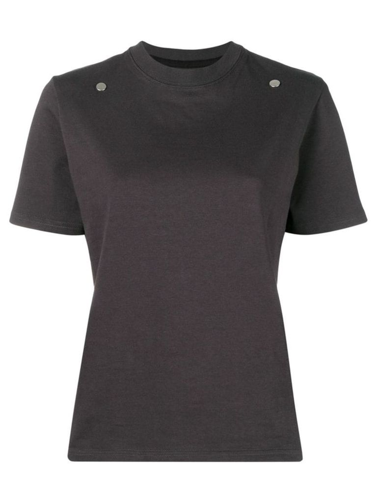 Zilver T-shirt with 2 front studs - Grey