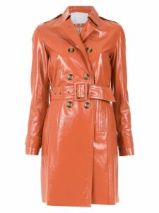 Nk leather trench coat - Brown