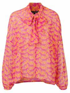 Luisa Cerano zebra print blouse - Orange
