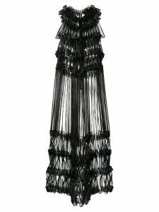 Comme Des Garçons Noir Kei Ninomiya ribbon embellished midi dress -