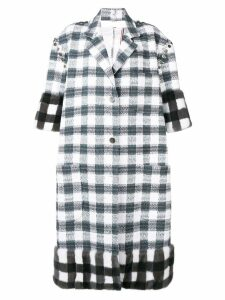Thom Browne Silk Ribbon Supersized Sack Overcoat - Grey
