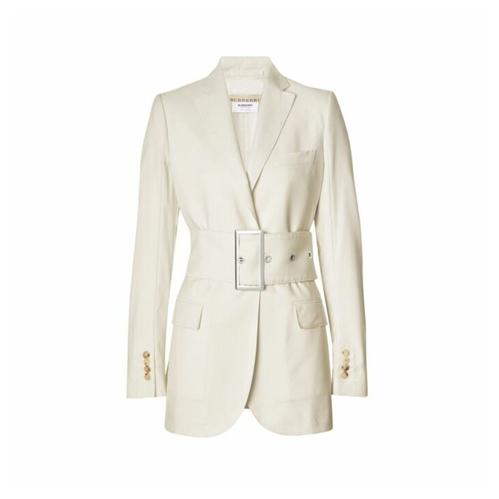 Burberry Wool Belted Blazer