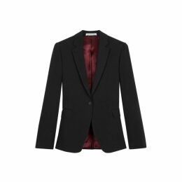 NICOLE FARHI Black Ashley Single Button Blazer