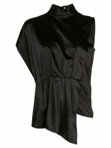 Federica Tosi high standing collar shirt - Black