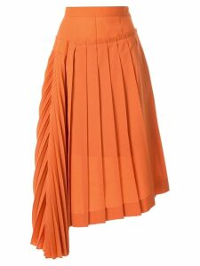 Irene asymmetric pleated skirt - Orange