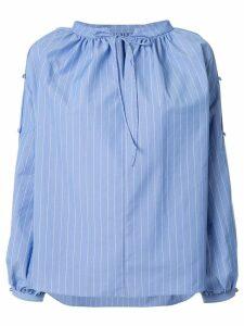 Le Ciel Bleu Striped Prairie Blouse - Blue