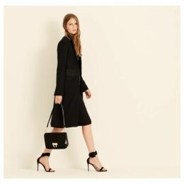 Amanda Wakeley Black Sculpted Tailoring Crombie Coat