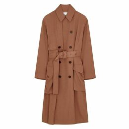 Acne Studios Olicia Rust Twill Trench Coat