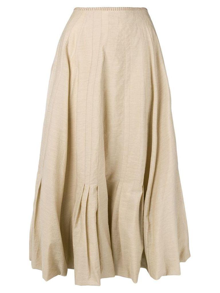 Acne Studios Pleated skirt - Neutrals