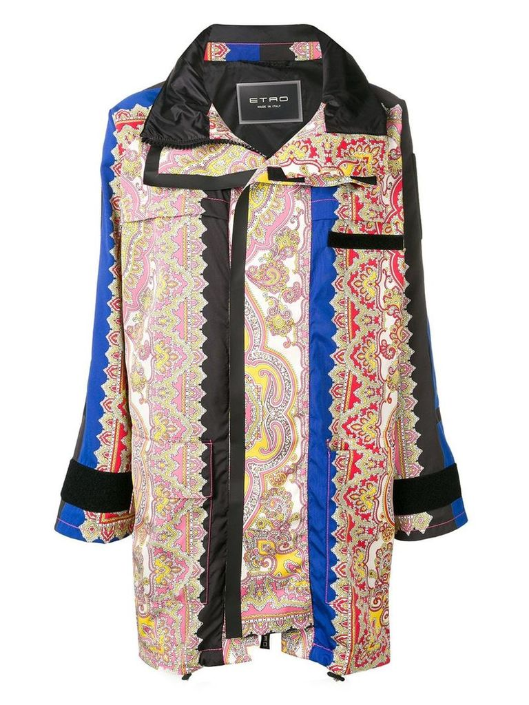 Etro paisley print coat - Blue